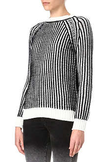 EACH X OTHER Leather-trim knitted jumper