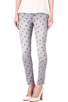 EACH X OTHER Polka-dot skinny mid-rise jeans