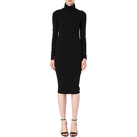TTYA Roll neck midi dress (Black