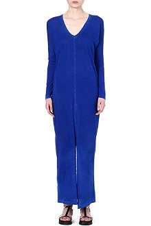 COTTON CITIZEN Centre-split jersey maxi dress