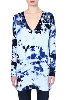COTTON CITIZEN Tie-dye jersey dress