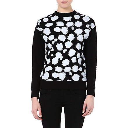 ETRE CECILE Cheetah-print sweatshirt (Black/white