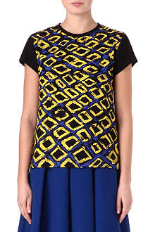 ETRE CECILE Diamond-print t-shirt