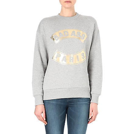 ETRE CECILE Bad Ass Paris sweatshirt (Grey/gold