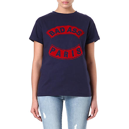 ETRE CECILE Bad Ass Paris t-shirt (Navy/red