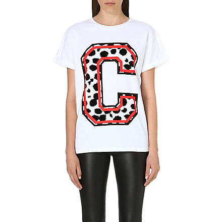 ETRE CECILE Cheetah print t-shirt (White/red