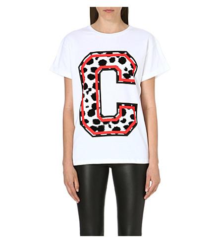 ETRE CECILE Cheetah print t-shirt (White/red