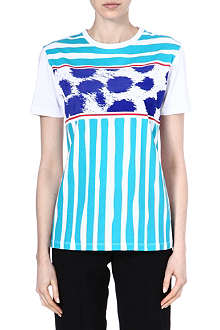 ETRE CECILE Cheetah and Breton-stripe t-shirt
