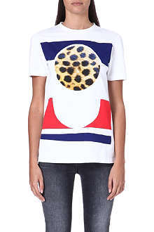 ETRE CECILE Cheetah circle t-shirt