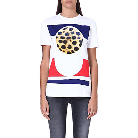 ETRE CECILE Cheetah circle t-shirt (White