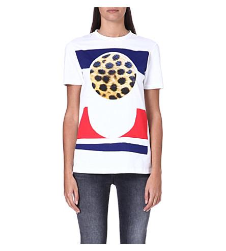 ETRE CECILE Cheetah circle t-shirt (White