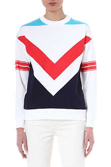 ETRE CECILE Chevron-patterned sweatshirt