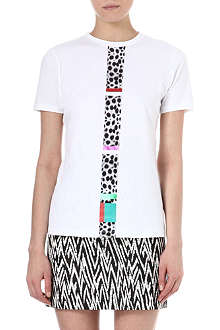 ETRE CECILE Cheetah Stripe t-shirt