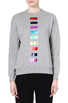 ETRE CECILE Foil-detailed sweatshirt