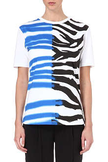 CECILE Zebra spray paint t-shirt