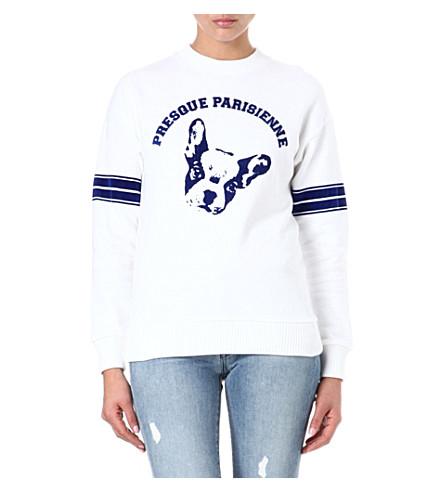 ETRE CECILE Presque Parisienne sweatshirt (White/blue