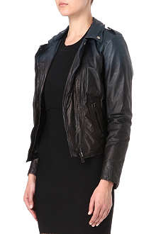 MUUBAA Salazar Ombré leather biker jacket