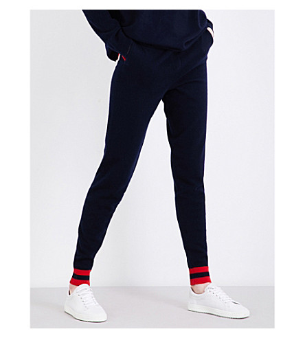 CHINTI AND PARKER Love Heart cashmere jogging bottoms (Navy/multi