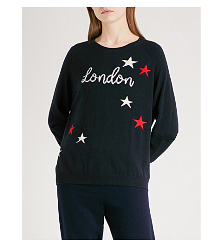 CHINTI AND PARKER London Star cashmere jumper (Navy