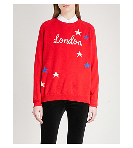 CHINTI AND PARKER London Star cashmere jumper (Red