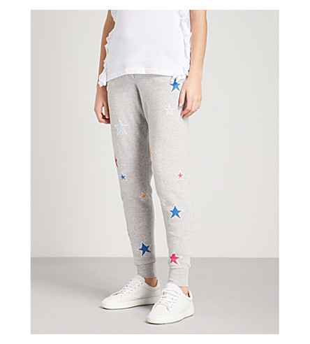 CHINTI AND PARKER Acid Star cashmere jogging bottoms (Silver+marl/multi