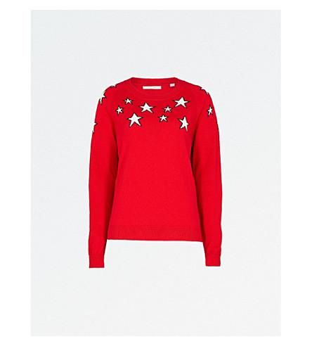CHINTI AND PARKER Stardust cashmere jumper (Poppy/cream/navy