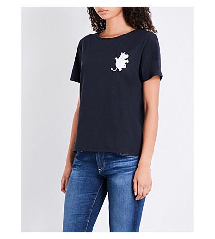 CHINTI & PARKER X MOOMINS Classic cotton-jersey T-shirt (Navy