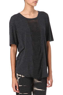 RAQUEL ALLEGRA Shredded panel t-shirt