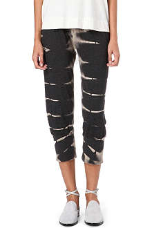 RAQUEL ALLEGRA Cropped tie-dye trousers