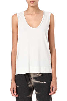 RAQUEL ALLEGRA Shredded-detail vest