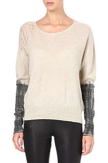 RAQUEL ALLEGRA Shredded cashmere jumper