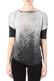 RAQUEL ALLEGRA Shredded-front top