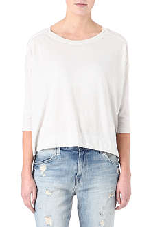 RAQUEL ALLEGRA Shredded-back cocoon top