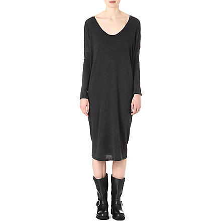 RAQUEL ALLEGRA Long-sleeved jersey dress (Black