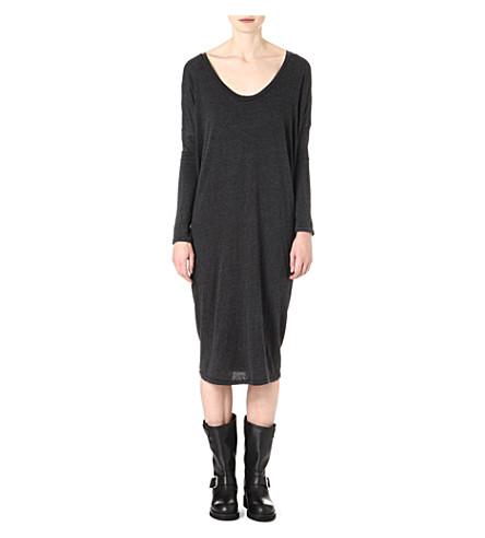 RAQUEL ALLEGRA Long-sleeved jersey dress (Black