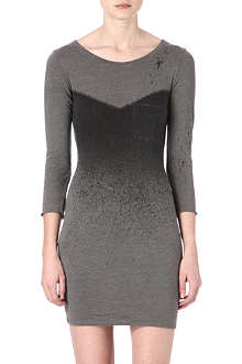 RAQUEL ALLEGRA Contrast-bodice jersey dress