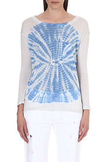 RAQUEL ALLEGRA Tie-dye long-sleeved top