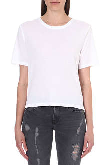 RAQUEL ALLEGRA Shredded-panel jersey t-shirt
