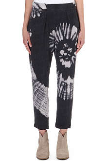 RAQUEL ALLEGRA Tie-dye jersey jogging bottoms