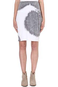 RAQUEL ALLEGRA Tie-dye jersey skirt