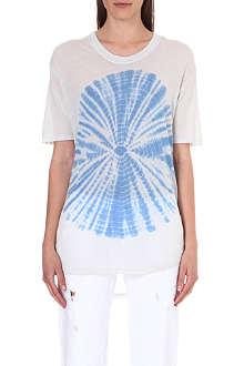 RAQUEL ALLEGRA Tie-dye oversized jersey t-shirt