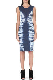 RAQUEL ALLEGRA Sheer tie-dye jersey dress