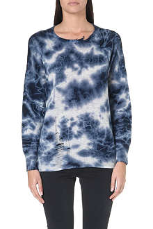 RAQUEL ALLEGRA Tie-dye wool and cashmere jumper