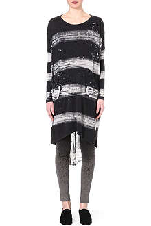 RAQUEL ALLEGRA Washed stripe dress