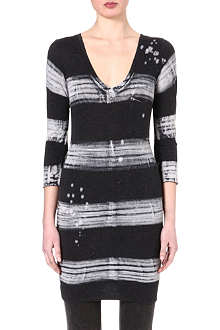 RAQUEL ALLEGRA Washed stripe fitted dress