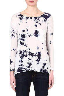 RAQUEL ALLEGRA Printed long-sleeved top