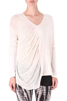 RAQUEL ALLEGRA Draped v-neck top