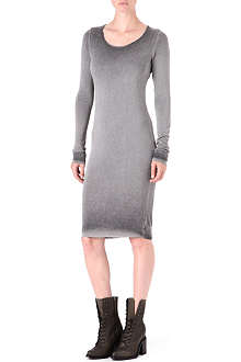 RAQUEL ALLEGRA Tonal long-sleeved dress