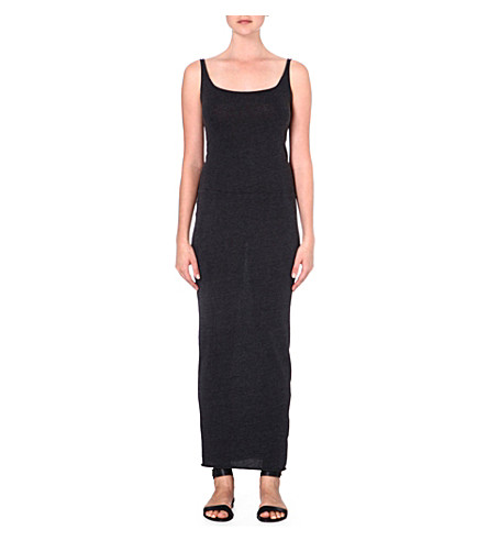 RAQUEL ALLEGRA Jersey maxi dress (Black
