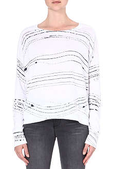 RAQUEL ALLEGRA Printed jersey top